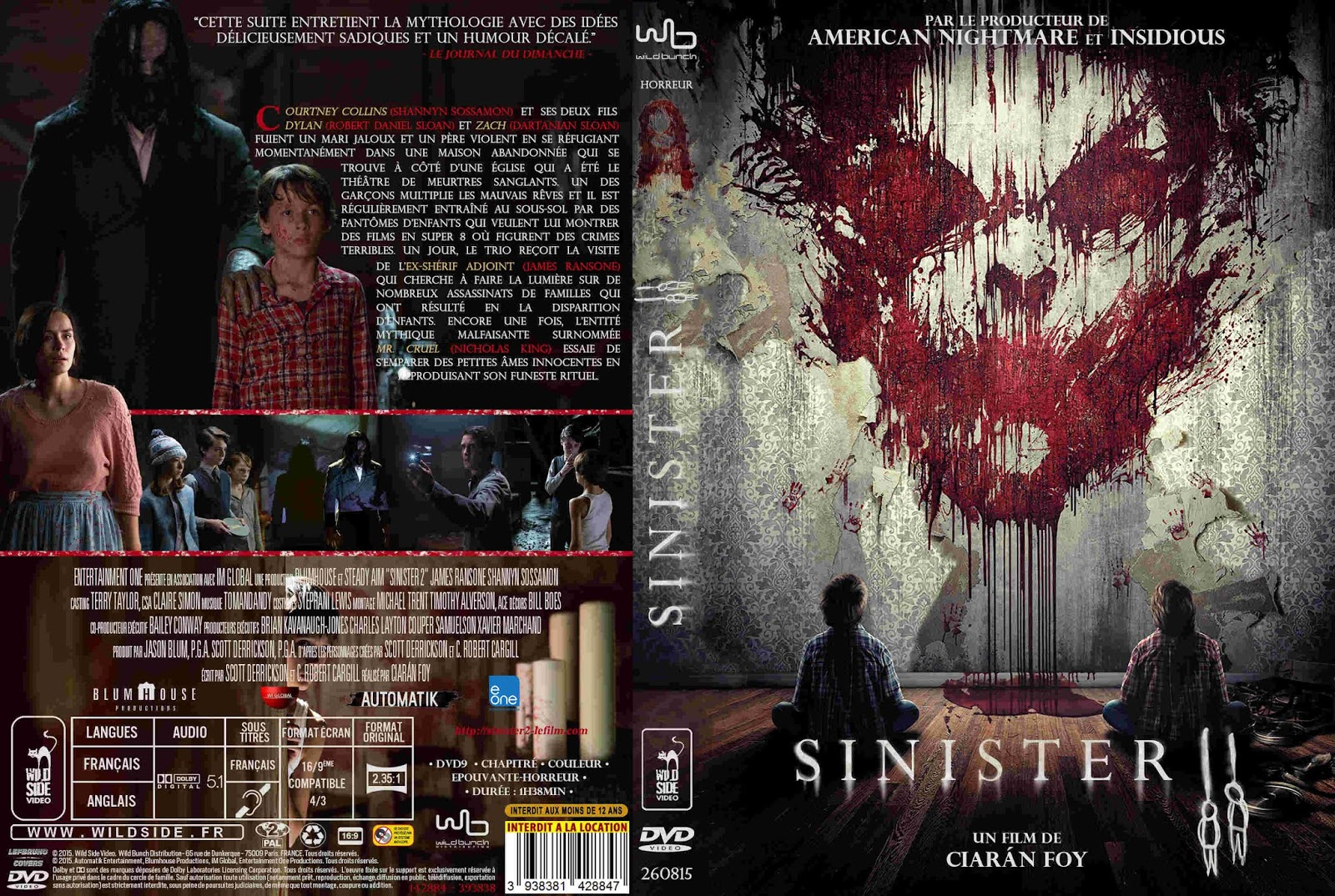 covers movie gtba sinister 2 2015 french cover label dvd movie