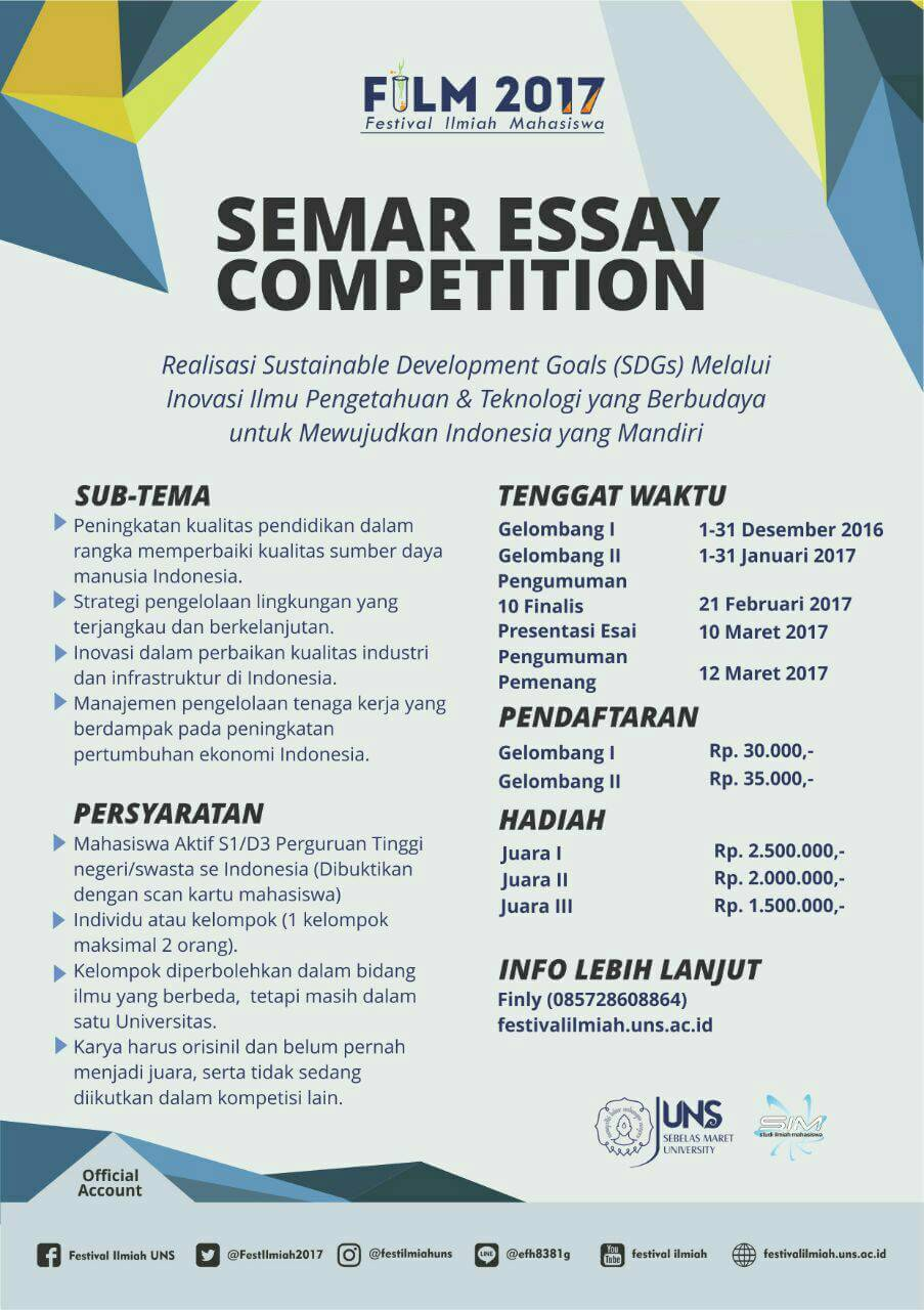 "international essay competition ugm Curriculum vitae i made andi arsana the champion of international writing competition ""solution for jakarta"" in the netherland universitas gadjah mada."