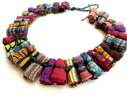 Fabric bead jewelry by gilgulim the beading gem 39 s journal for How to make african jewelry crafts