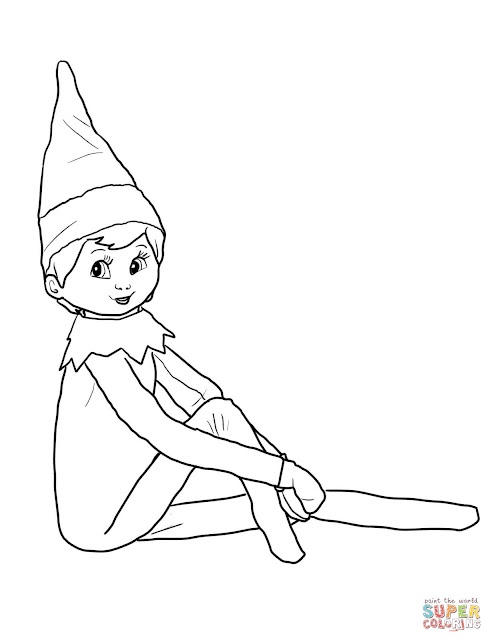girl elf on a shelf coloring pages | Little Lids Siobhan