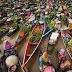 Wisata Pasar Terapung Muara Kuin Banjarmasin