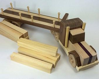 bahan membuat miniatur truk dari kayu
