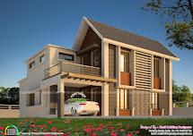 Modern Mix Indian Home Design - Kerala And