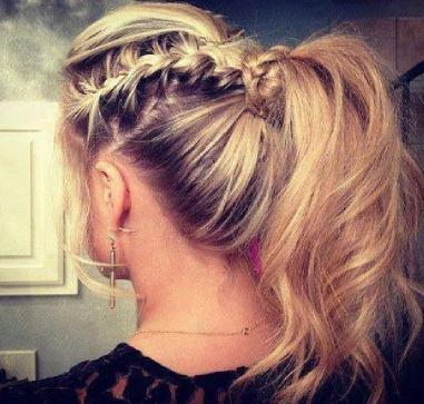 double Braided ponytail :