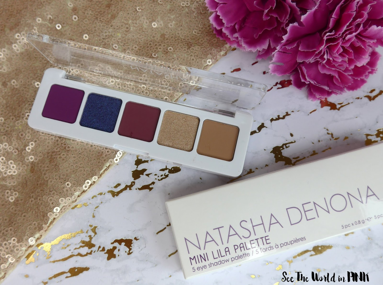 Natasha Denona Mini Lila Eyeshadow Palette - Swatches, Makeup Look and Review!