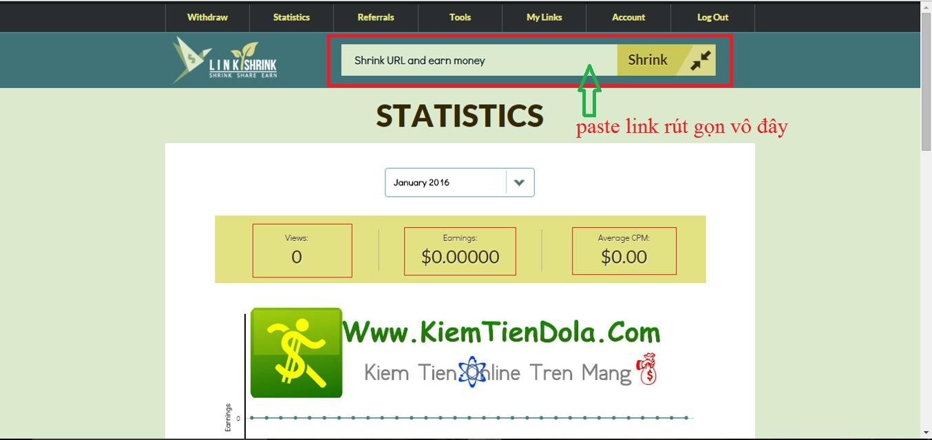 kiem tien tai linkshrink