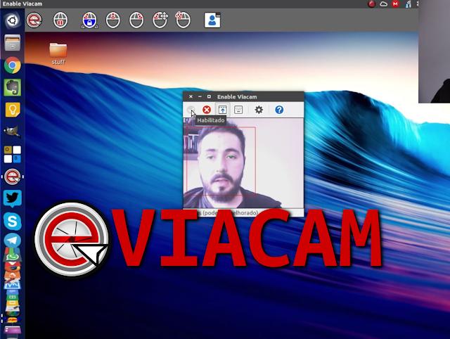 Usando o eViacam no Linux