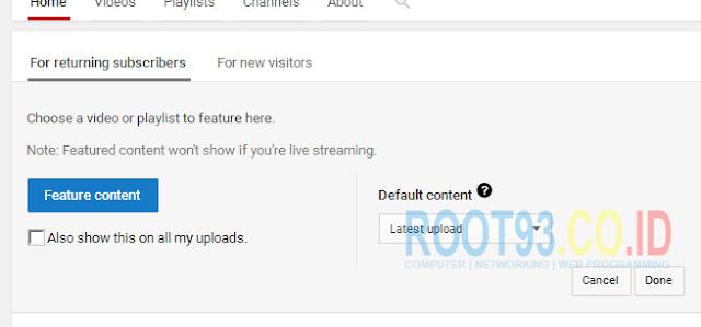 Mengatur Halaman Depan Channel Youtube 4