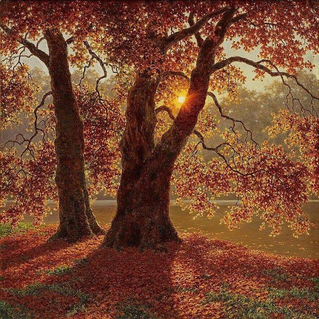 Dipinto romantico Ivan Fedorovich Choultse, Soir d'automne - Bois de Boulogne