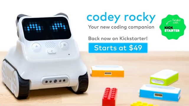 codey rockey robot starting price in kickstarter