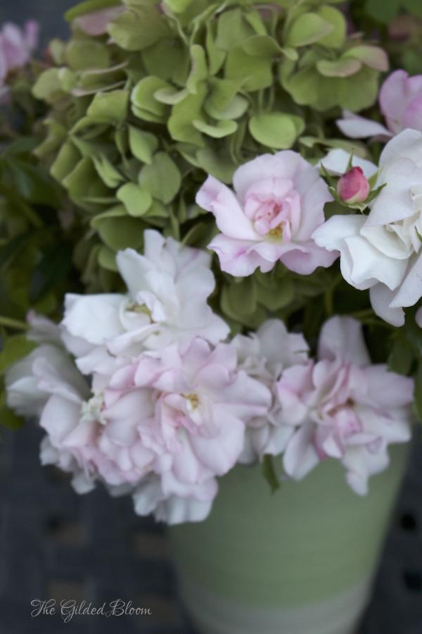 A Summer Garden Floral Arrangement- www.gildedbloom.com