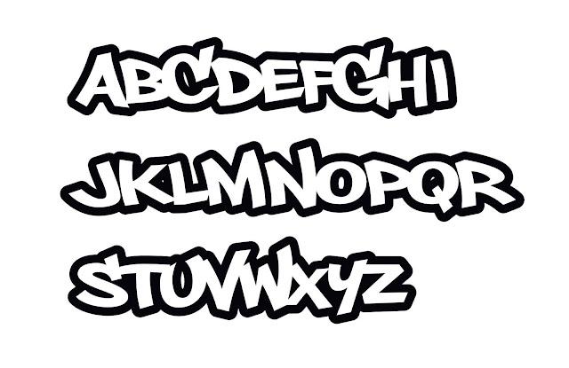 Graffiti alphabet vorlagen, graffiti schrift abc