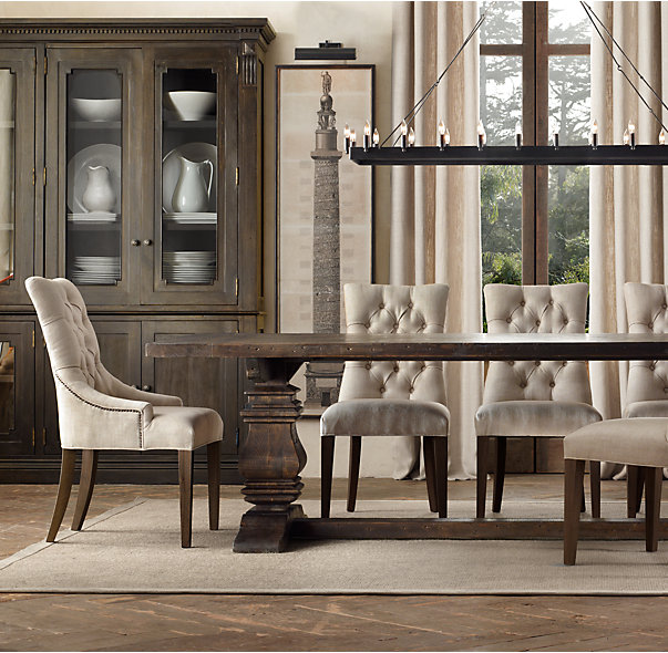 Restoration Hardware Has A Black Trestle Table That Looks Interesting Notice The Herringbone Floor Underneath Anyway It Is 84 Inches By 42 And