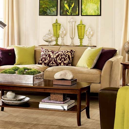 Eye For Design: Decorating With The Brown/ Lime Green