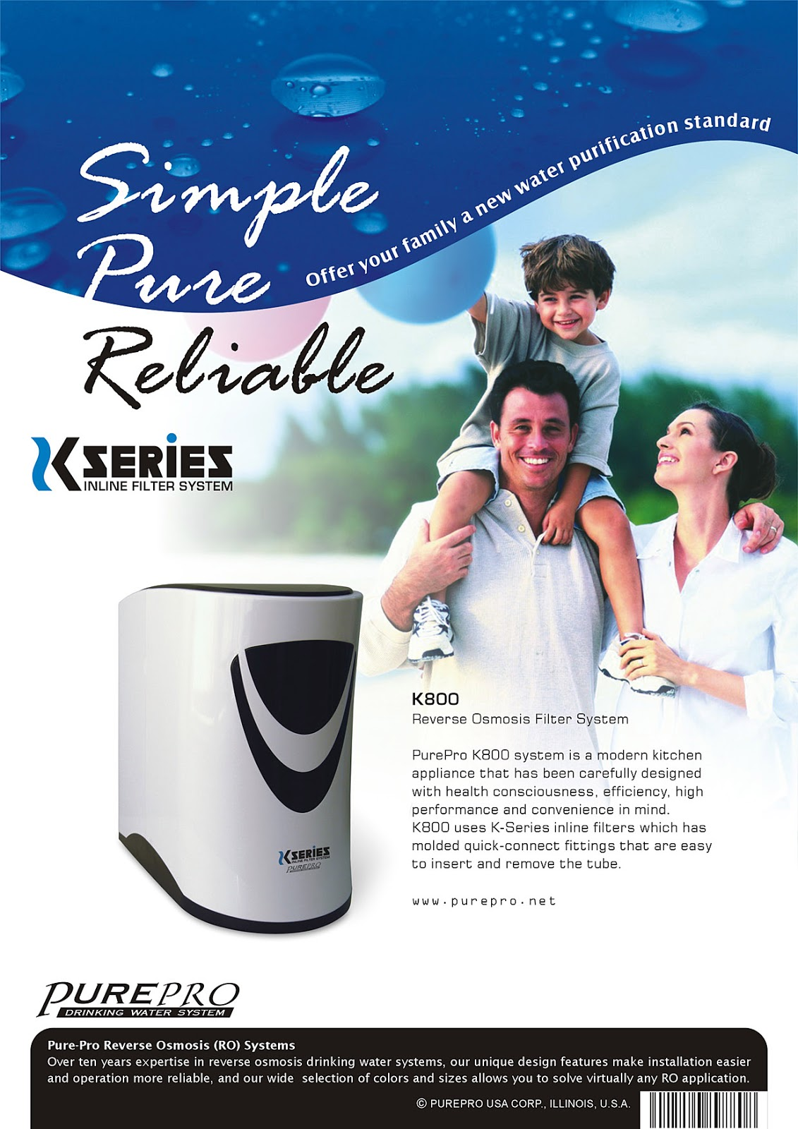 PurePro® K800 Reverse Osmosis Water Filtration System