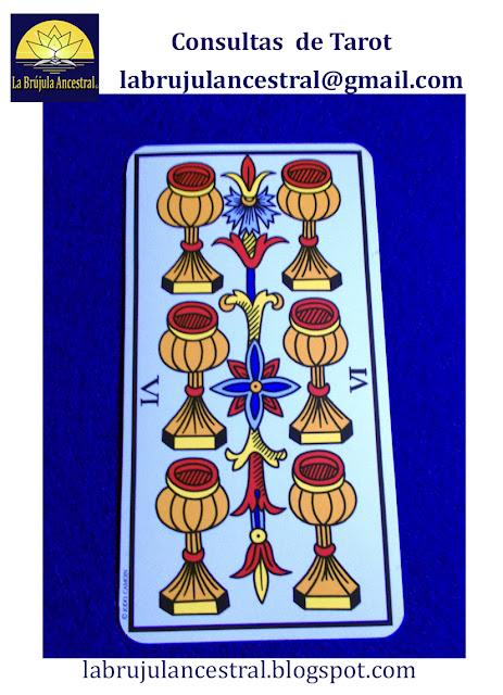 6 de Copas Tarot de Marsella