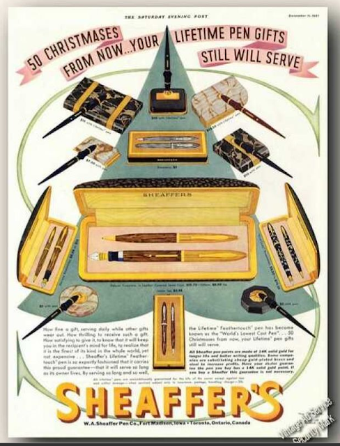 sheaffer white dot fountain pen advertisement 1937