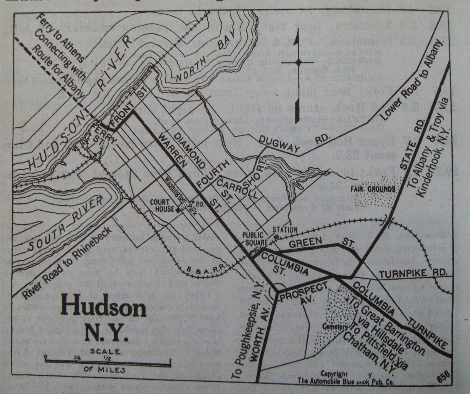Hudson Ny Map >> The Gossips Of Rivertown Points Of Interest Hudson Ny
