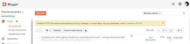 SSL na Bloggerze z podpiętą własną domeną - to możliwe!