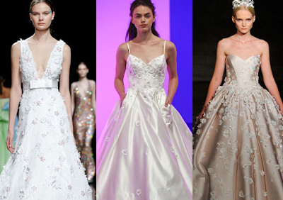 Wedding dresses 2019 decorated with outstanding flowers.