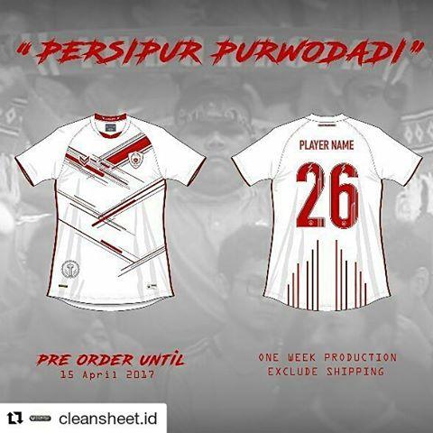 Jersey away terbaru Persipur Purwodadi 2017
