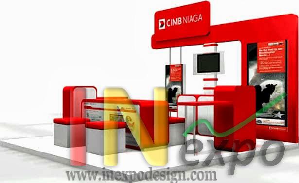 Design Stand Pameran CIMB NIAGA Inexpo Kontraktor Pameran