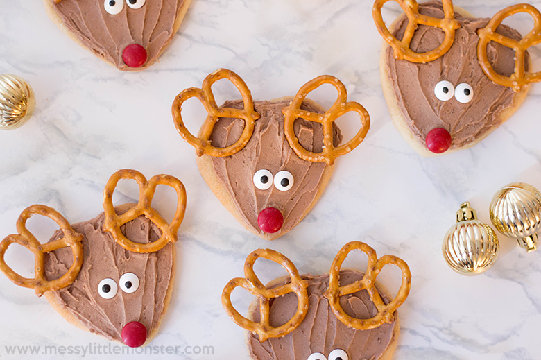 Christmas sugar cookie recipe. Reindeer cookies
