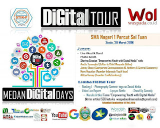#DigitalTour digelar bersama siswa-siswi SMA Negeri 1 Percut Sei Tuan (28 Maret 2016). #DigitalIsMe EMPOWERING YOUTH WITH DIGITAL MEDIA…