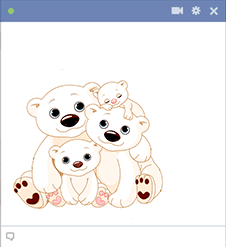 Polar Bear Family - FB sticker