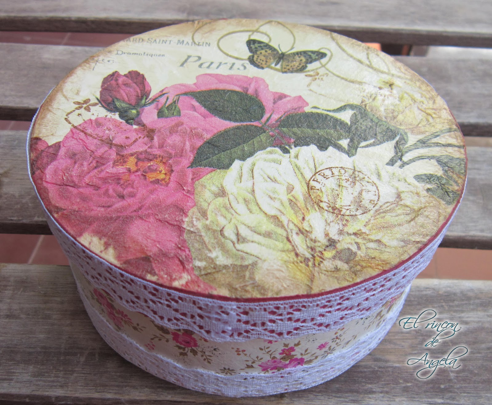 El rincon de angela como decorar o reciclar una caja con - Colores para reciclar ...