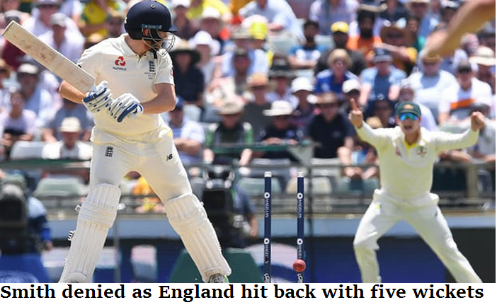 Smith denied as England hit back with five wickets