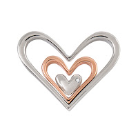 NESTING HEARTS WITH SWAROVSKI CRYSTAL ACCENT