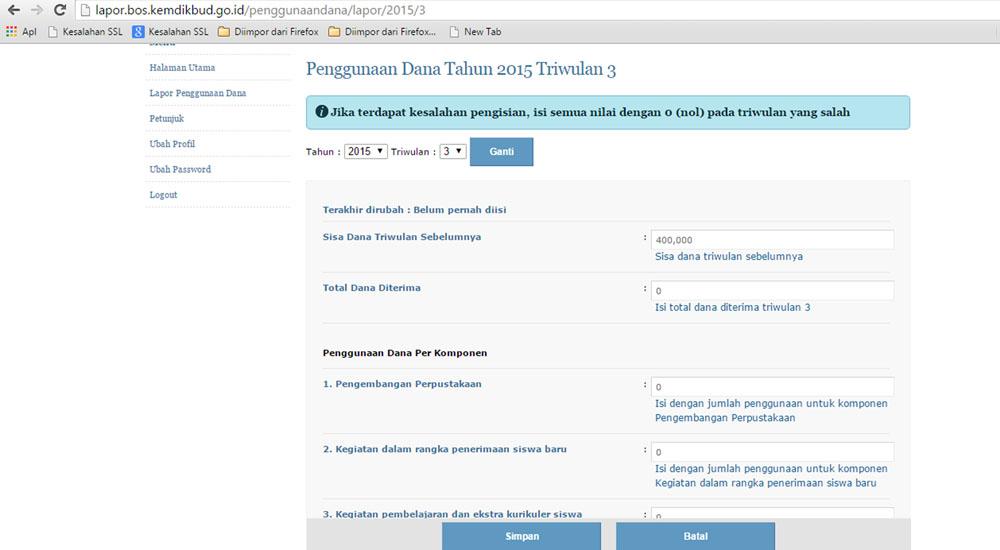 Cara Mengisi Laporan Bos Online Ops Indonesia