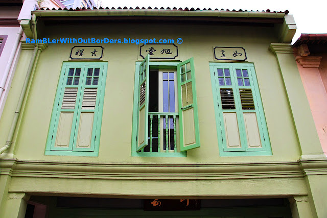 Shophouses in Early Style, Tanjong Pagar Road, Singapore