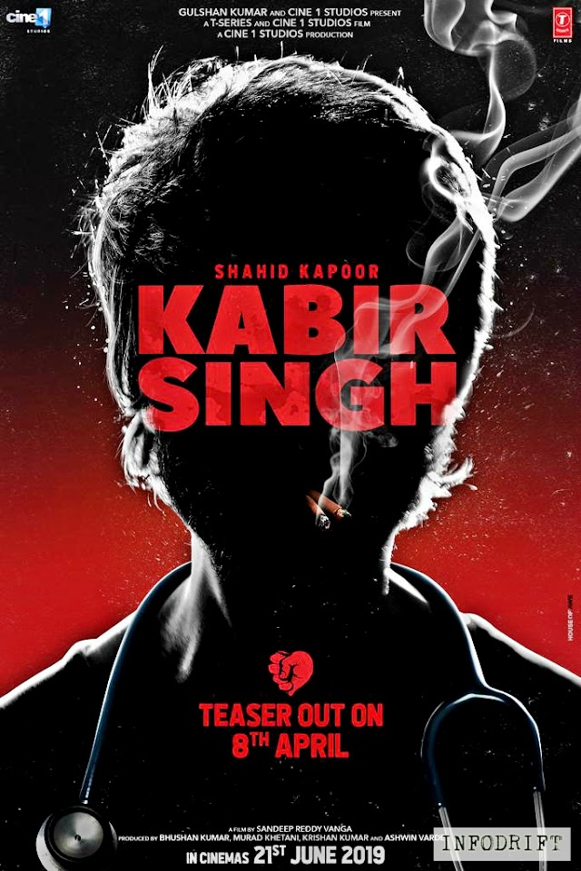 Kabir Singh: teaser out now with Shahid kapoor's BOOM avtar and innocence of Kiara Advani... realising on 21st June