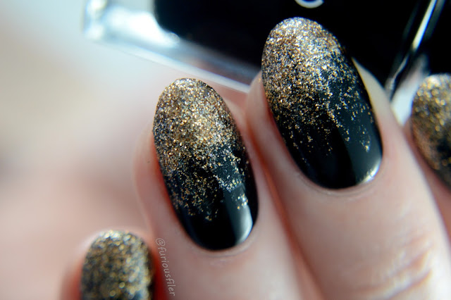 glitter gradient sparkly glam black gold
