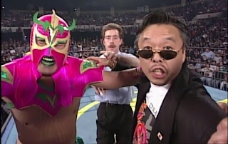 WCW WORLD WAR 3 1996 - Ultimo Dragon (w/ Sonny Onoo) bt. Rey Mysterio Jr.