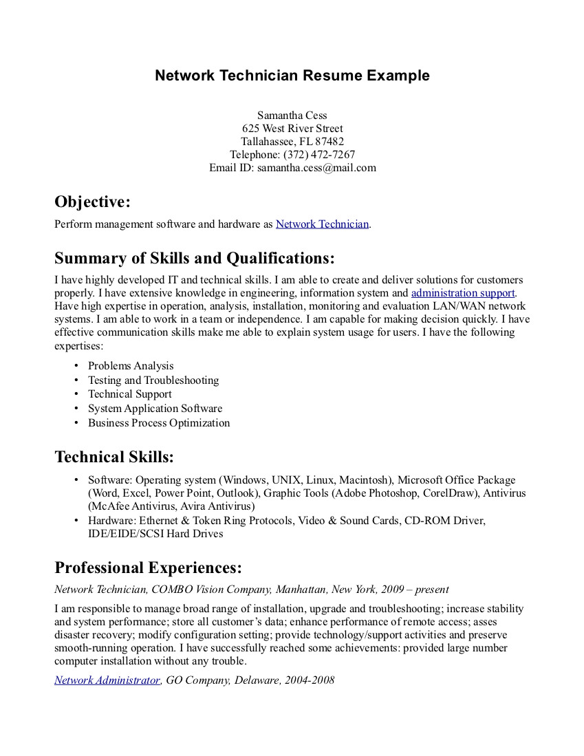 pharmacy tech resume samples