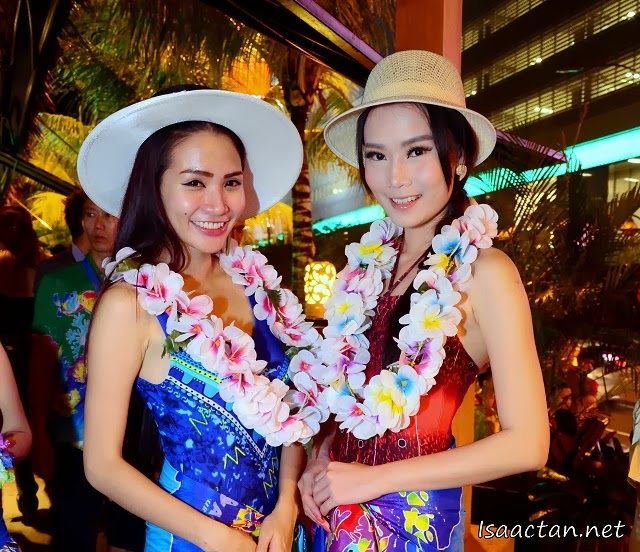 Welcomed by pretty ladies to the grand launch of the Beach Club Cafe.. Mark 1.2
