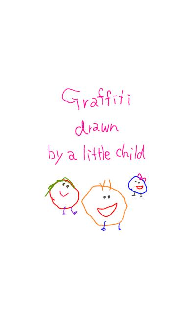 Graffiti drawn by a little child