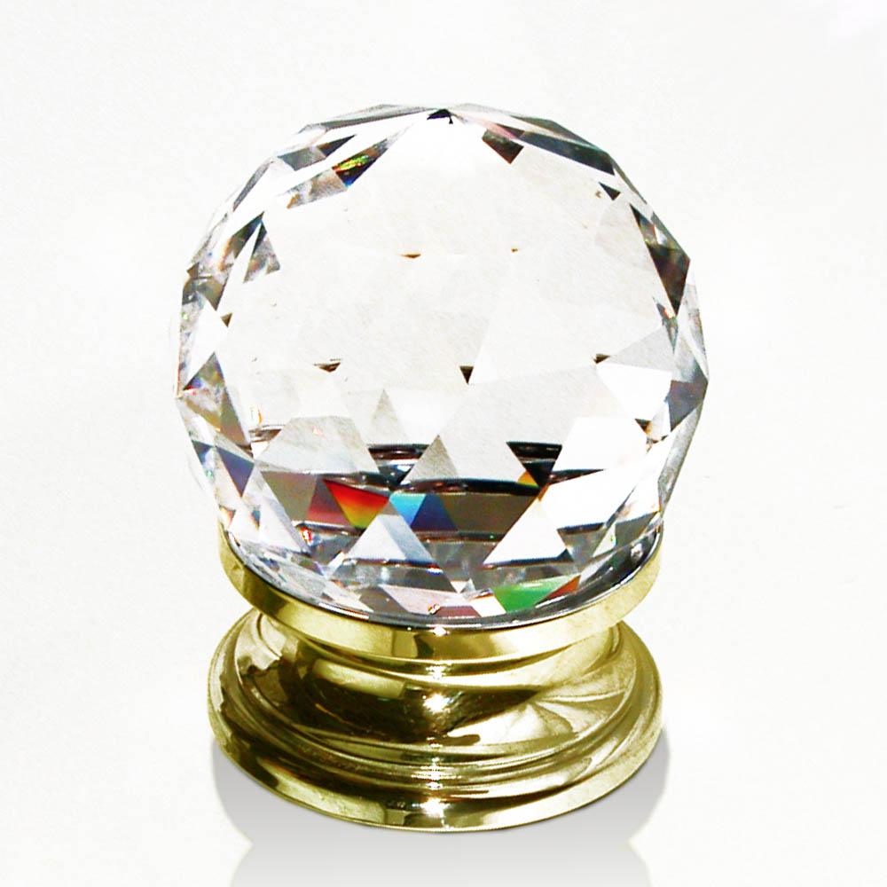 m belkn pfe aus glas und kristall klassischer m belknopf messing und glas facettiert 40mm. Black Bedroom Furniture Sets. Home Design Ideas