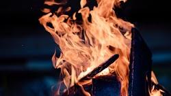 Wood Fire Burning