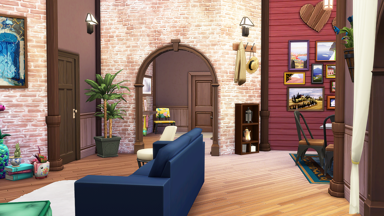 Sims 4 CC's - The Best: Boho Classic Apartment : 20 ...