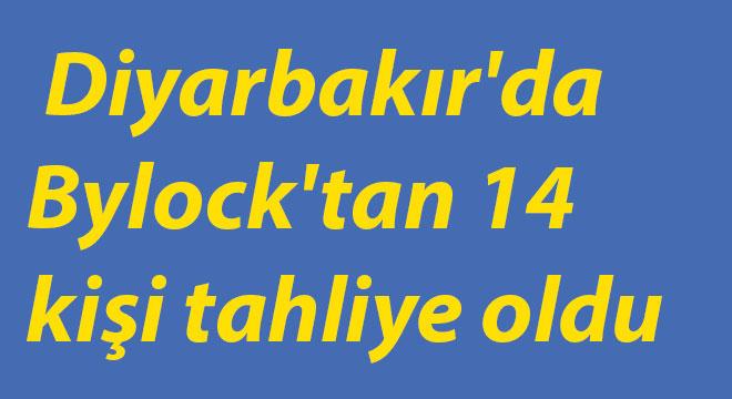 Diyarbakır'da Bylock'tan 14 kişi tahliye oldu