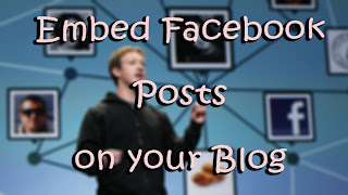 Embeddable Facebook Posts