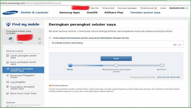 Menyalakan Dering Ringtone HP Samsung di Samsung Dive - Panduan Cara Melacak Hp Samsung Galaxy Yang Hilang Dicuri Tanpa GPS Lewat Internet