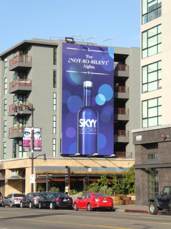For not so silent nights Skyy Vodka billboard