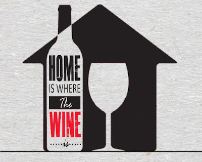 wine quote - home is where the wine is