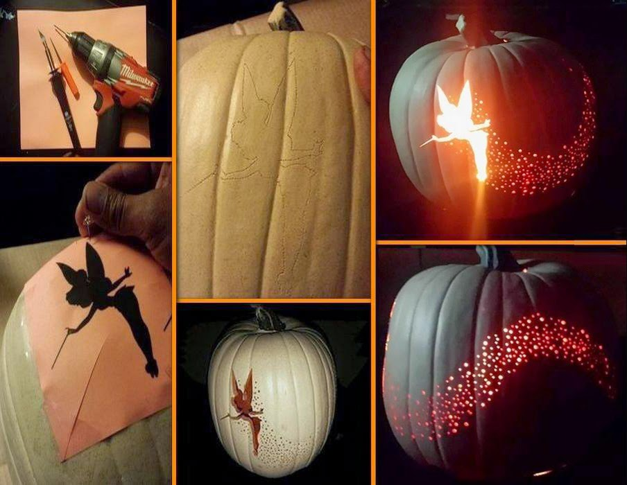 Tinkerbell pumpkin carving creative ideas for Tinkerbell pumpkin template free