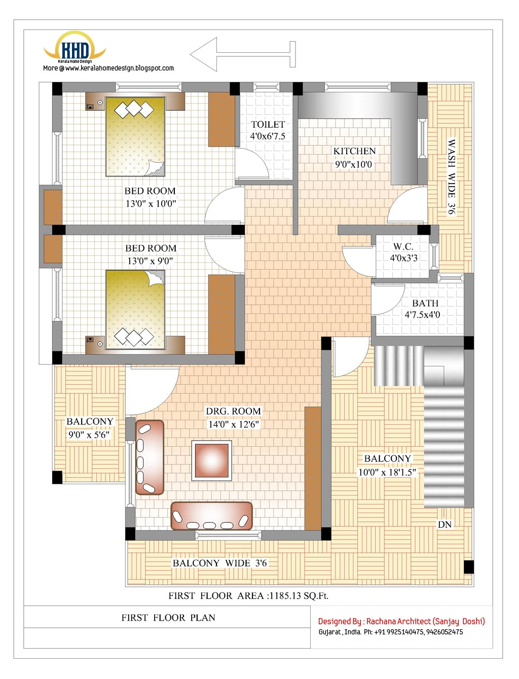 2370 Sq.Ft. Indian style home design - Kerala home design ...